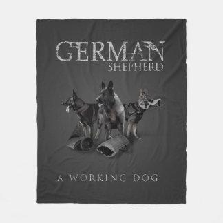 Couverture Polaire Chien de berger allemand de travail - GSD