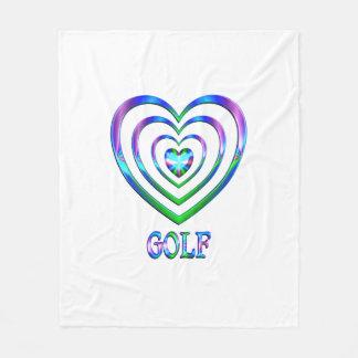 Couverture Polaire Coeurs de golf