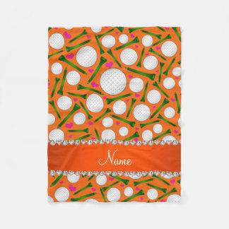 Couverture Polaire Coeurs oranges nommés personnalisés de tee - shirt