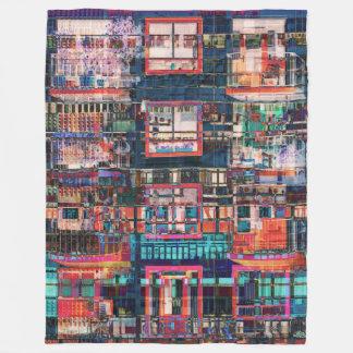 Couverture Polaire Collage coloré de bâtiments