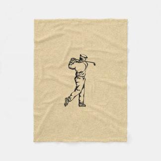 Couverture Polaire Conception de sport de golfeur simili cuir