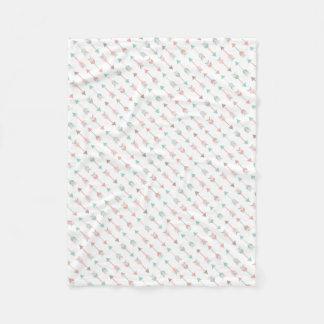 Couverture Polaire Coussin moderne de flèches dans la menthe et le