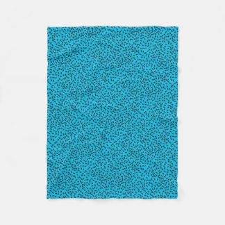 Couverture Polaire Dominos sur le bleu