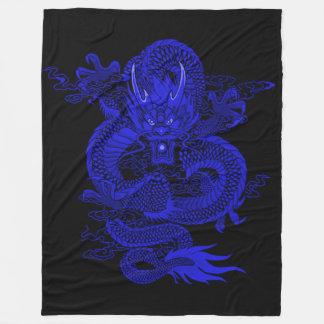 Couverture Polaire Dragon d'empereur de bleu royal