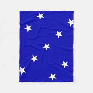 Couverture Polaire Drapeau bleu mignon