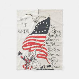 Couverture Polaire Drapeau des Etats-Unis d'Amérique d'hymne national