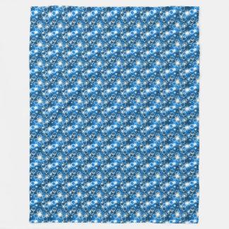 Couverture Polaire Étoiles bleues confortables clignotant la