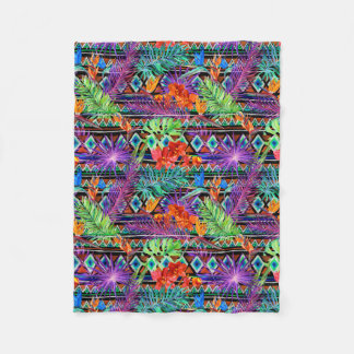 Couverture Polaire Floral tribal tropical de BoHo