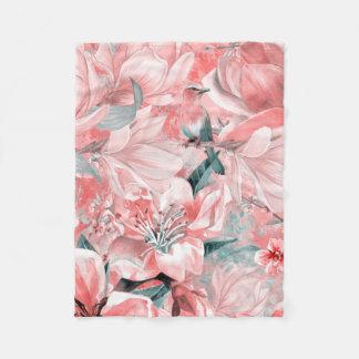 Couverture Polaire flowers2bflowers et #flowers de motif d'oiseaux