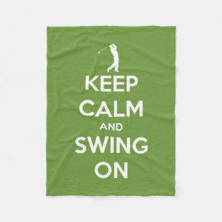 Couverture Polaire Gardez le calme et balancez sur le golf vert