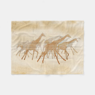 Couverture Polaire Girafes courantes ID141