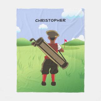 Couverture Polaire Golfeur personnalisé de bande dessinée