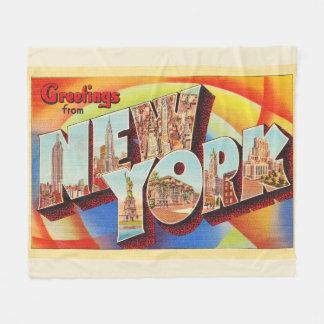 Couverture Polaire Grande carte postale de voyage de lettre de New