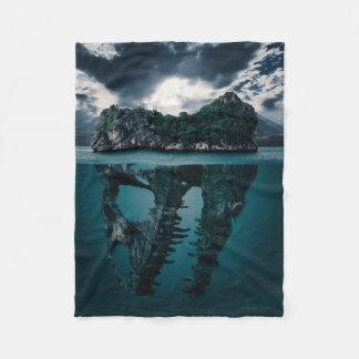 Couverture Polaire Île artistique d'imaginaire abstrait