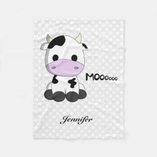 Couverture Polaire La bande dessinée mignonne de vache à bébé badine