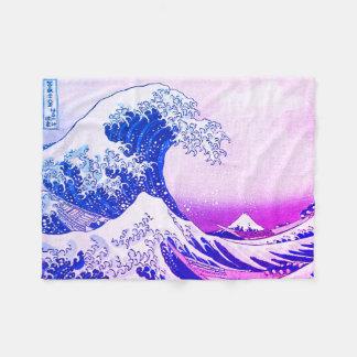 Couverture Polaire La grande vague outre de Kanagawa