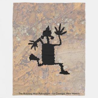 Couverture Polaire La pétroglyphe courante d'homme
