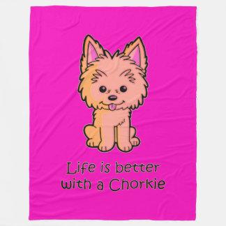 Couverture Polaire La vie est meilleure avec un Chorkie