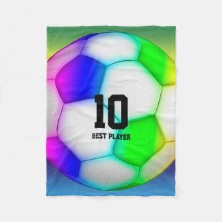 Couverture Polaire Le football coloré du football  