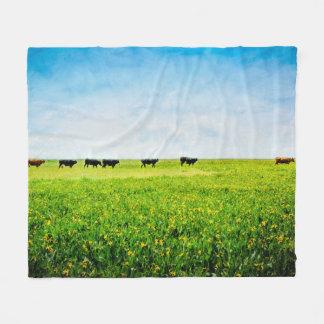 """Couverture Polaire Le jet couvrant """"jusqu'aux vaches viennent à la"""