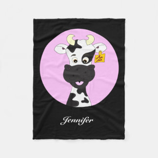 Couverture Polaire Le noir drôle de rose de bande dessinée de vache