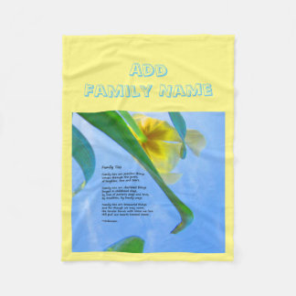 Couverture Polaire Les cravates de famille - ajoutez votre nom -