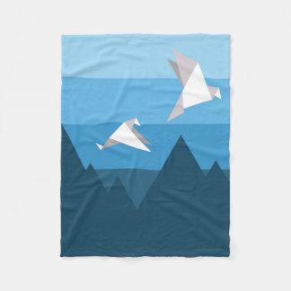 Couverture Polaire Les montagnes bleues