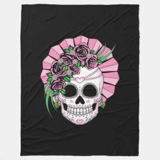 Couverture Polaire Madame Sugar Skull