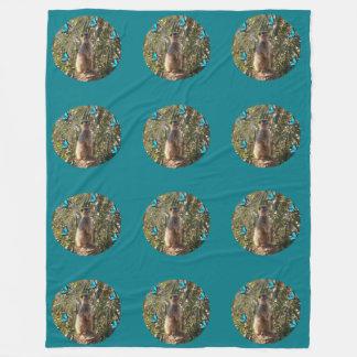 Couverture Polaire Meerkat et papillons bleus,