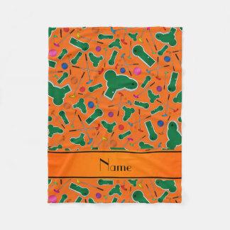 Couverture Polaire Mini golf orange nommé personnalisé