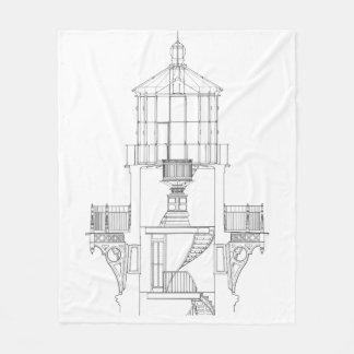 Couverture Polaire Modèle de pièce de lanterne de phare du Cap