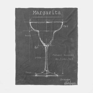 Couverture Polaire Modèle noir et blanc en verre de margarita