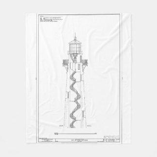 Couverture Polaire Modèle vintage 2 de phare du Cap Hatteras