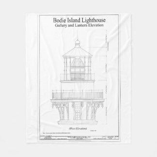 Couverture Polaire Modèle vintage de phare d'île de Bodie
