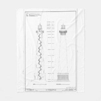Couverture Polaire Modèle vintage de phare du Cap Hatteras
