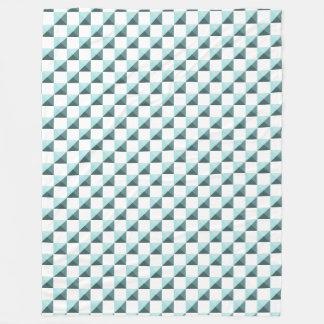 Couverture Polaire Motif Checkered de Shell de ventouse bleue d'Aqua