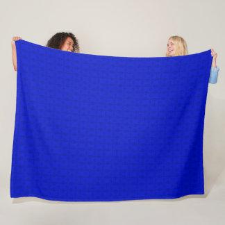 Couverture Polaire Motif décoratif de satin du Gouverneur de bleu