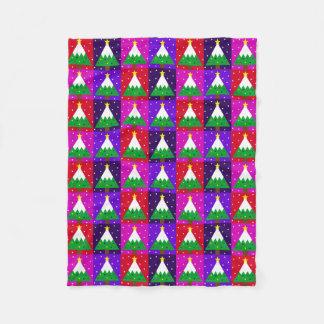 Couverture Polaire Motif génial d'arbre de Noël