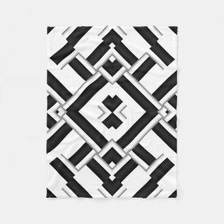 Couverture Polaire Motif noir et blanc
