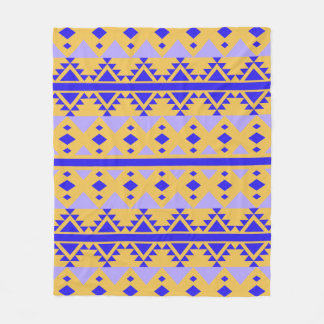 Couverture Polaire Motif tribal pourpre de triangles
