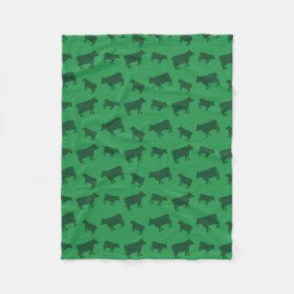 Couverture Polaire Motif vert de vache