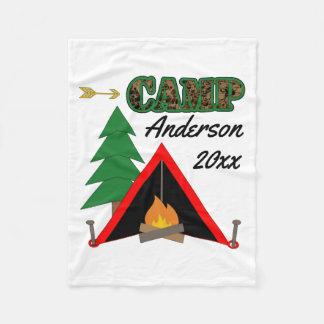 Couverture Polaire Nom sportif de tente de feu de camp de camping
