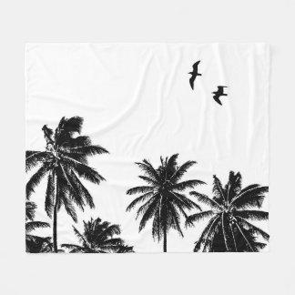 Couverture Polaire Oiseaux de palmiers de la conception 27