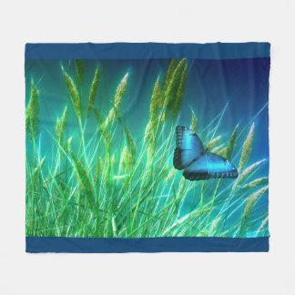 Couverture Polaire Papillon bleu