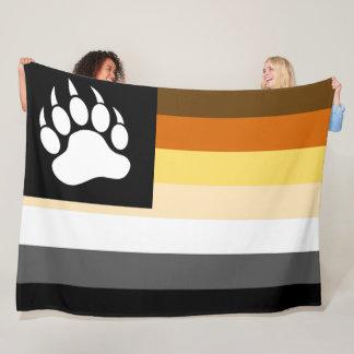 Couverture Polaire Patte d'ours gaie fraîche de drapeau de fierté