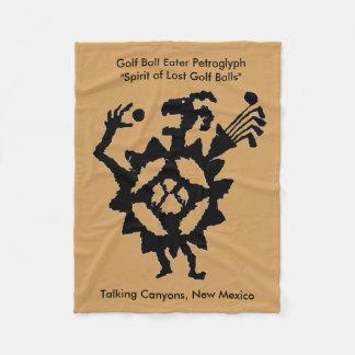 Couverture Polaire Pétroglyphe de mangeur de boule de golf