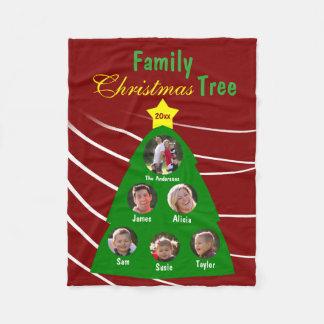 Couverture Polaire Photo de coutume de souvenir d'arbre de Noël de