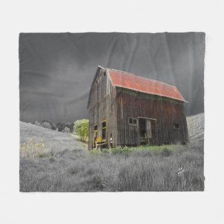 Couverture Polaire Photographie vintage de ferme de vieille grange