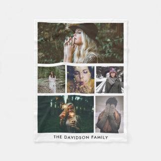 Couverture Polaire Photos simples minimalistes de la famille six