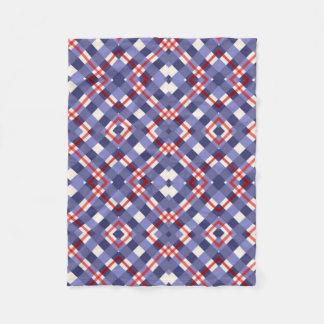 Couverture Polaire Plaid rouge, blanc et bleu
